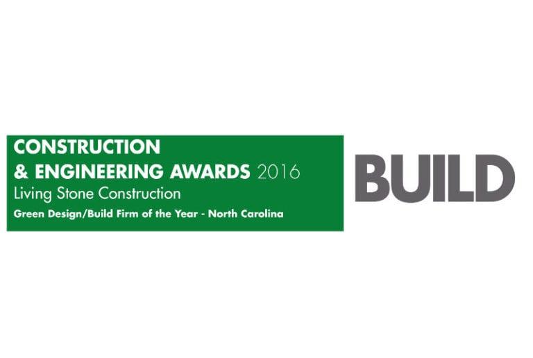 Living Stone Construction Green DesignBuild Firm of the Year North Carolina Build-Construction-Engineering Awards 2016 Winners logo