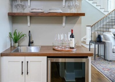 view of wine station with built in wine cooler