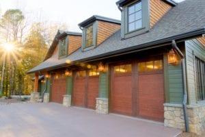 Skytop Farms Mountain Lodge Exterior Garage Doors