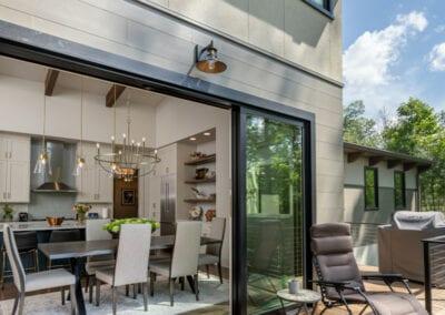 Living Stone Design+Build Cooper Deck Pocket Doors
