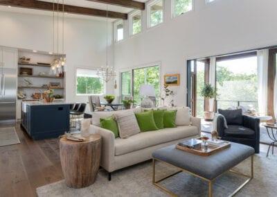 Living Stone Design+Build Cooper Living Area Wide View