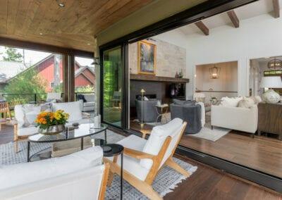 Living Stone Design+Build Cooper Deck with Pocket Doors