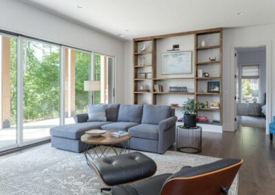 Living Stone Design+Build Cooper Downstairs Living Area