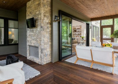 Living Stone Design+Build Cooper Screen Porch Furniture