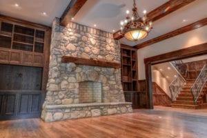 Skytop Farms Mountain Lodge Interior Fireplace