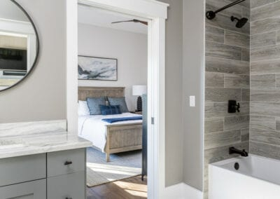 Living Stone Design+Build Logan Bathroom Door