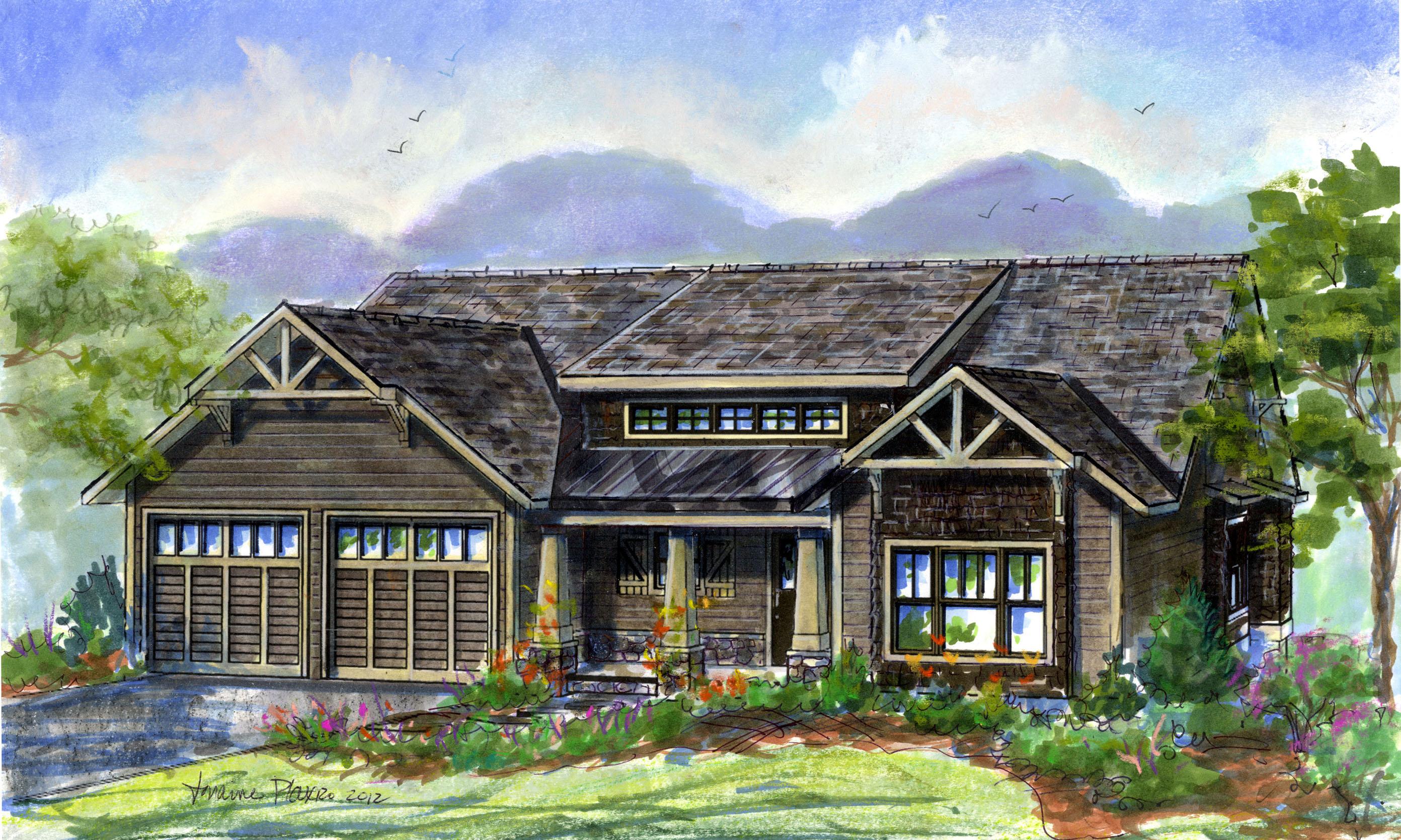 The Petite Alexandra Cottage – semi-custom plan