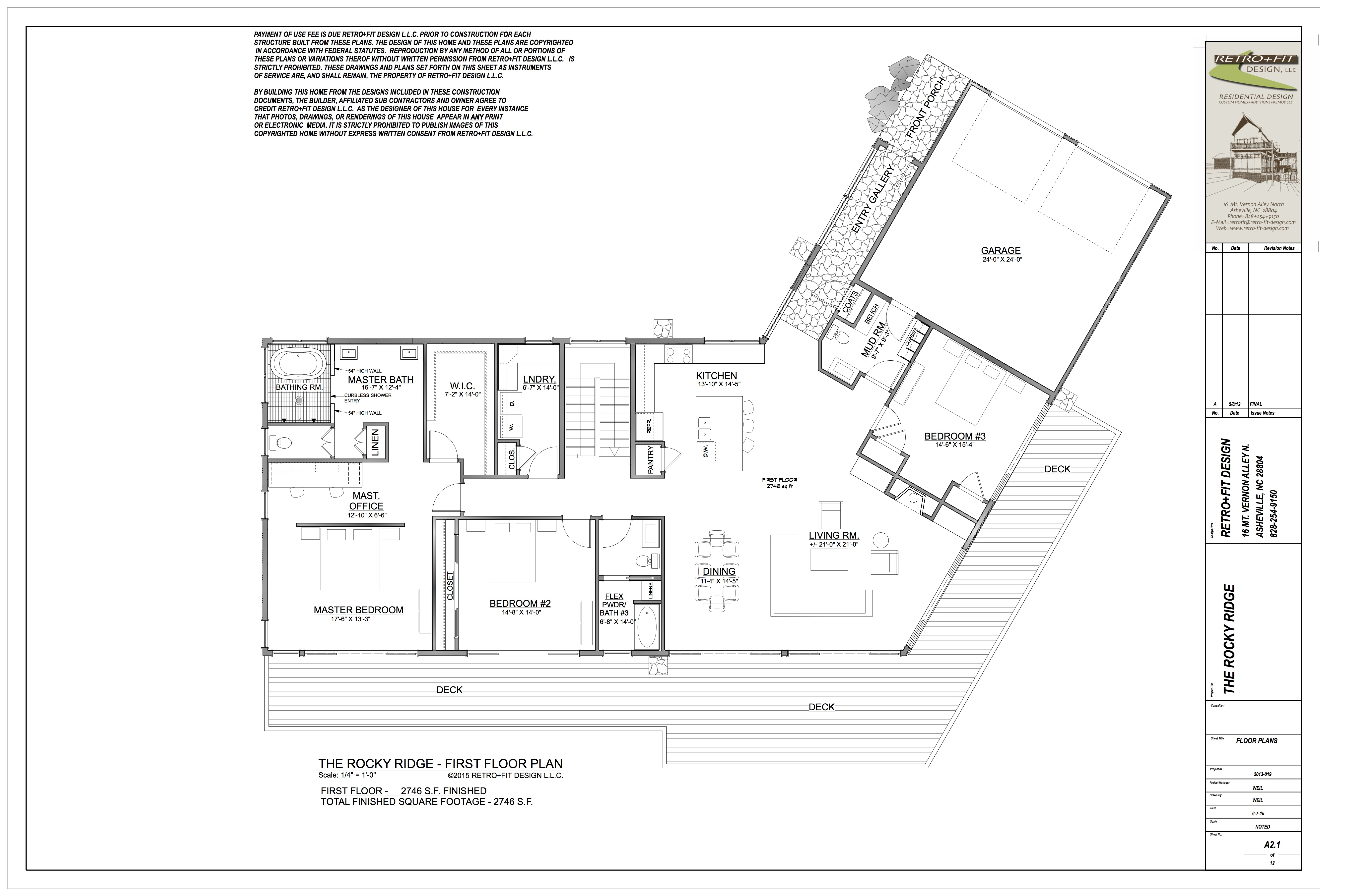 THE ROCKY RIDGE FLOOR PLAN