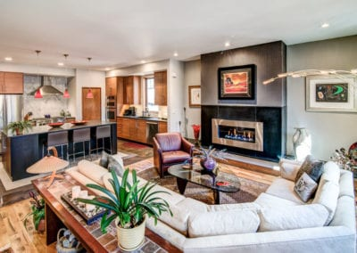 The Modern Wetjen Livingroom and Kitchen