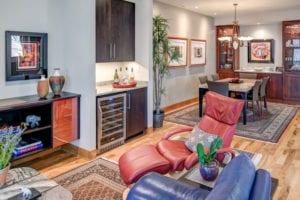 The Modern Wetjen Living room and Wet Bar