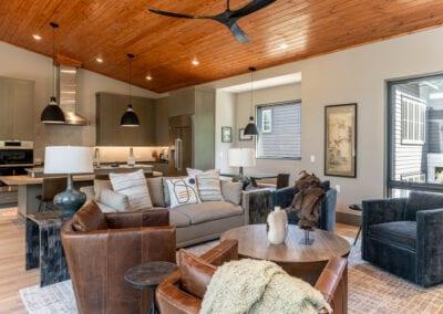 Living Stone Design+Build The Ramble Asheville Living Area