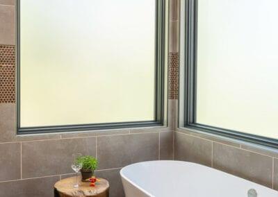 Living Stone Design+Build Large Bathroom Windows