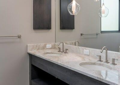 Living Stone Design+Build Contemporary Bathroom Lighting