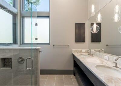 Living Stone Design+Build Contemporary Bathroom