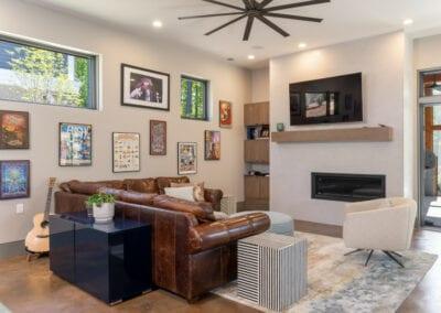 Living Stone Design+Build Basement Lounge