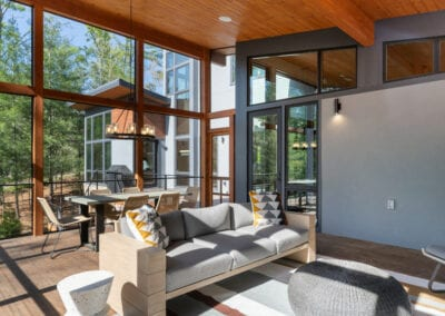 Living Stone Design+Build Screen Porch Interior