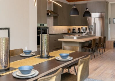 Living Stone Design+Build Contemporary Kitchen and Dining