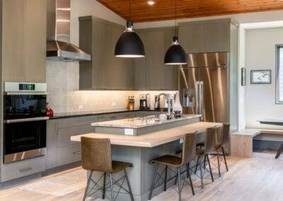 Living Stone Design+Build Contemporary Kitchen appliances