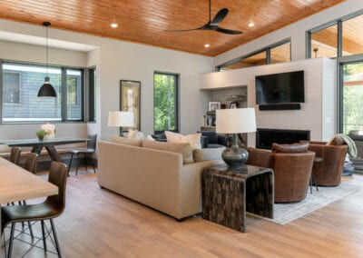 Living Stone Design+Build The Ramble Living Room Side View