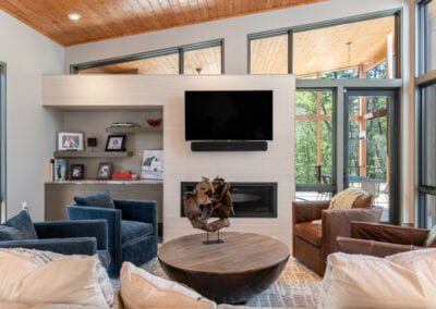 Living Stone Design+Build The Ramble Living Room TV