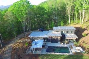The Watkins Residence aerial view