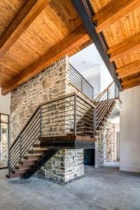 The Watkins Residence interior stairs