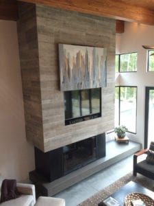 The Watkins Residence living room fire place