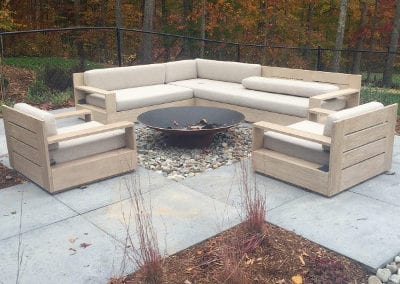 The Watkins Residence outdoor firepit