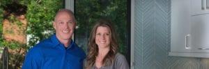 Sean Sullivan and Laura Kirkpatrick Sullivan in Kitchen