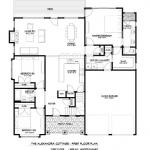 Alexandra Cottage 1st floor plan, Southcliff, Asheville
