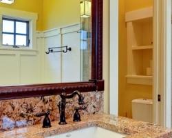 Craftsman bathroom, tile work and sink
