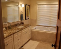 Craftsman bathroom with sink and tub