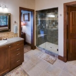 Craftsman bathroom and shower