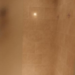 shower with tile work