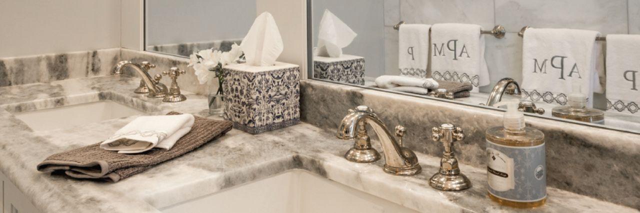 build by design bathroom counter