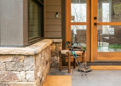 Living Stone Design+Build Hawks Nest Front Door Decor