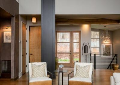 Living Stone Design+Build Hawks Nest Living and Entry