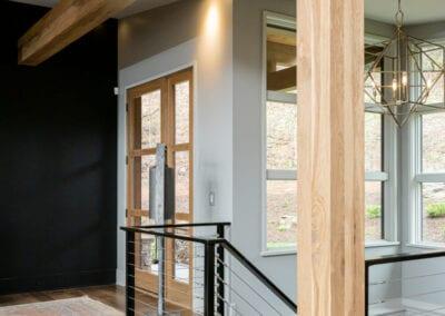 Living Stone Design+Build Hawks Nest Front Door Interior