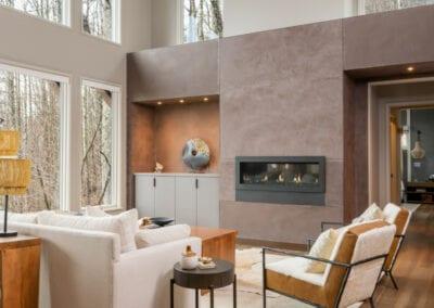 Living Stone Design+Build Hawks Nest Modern Living Room