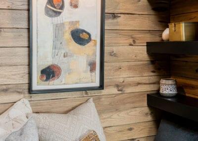 Living Stone Design+Build Hawks Nest Wooden Panel Wall