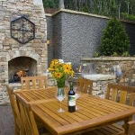 Exterior chimney and fireplace, The Settings of Black Mountain