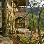 Two story stone porches, The Settings of Black Mountain