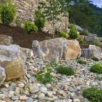 Exterior landscaping renovation, Lake Lure