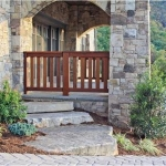 Exterior stone porch, The Settings of Black Mountain