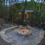 exterior stone fireplace