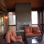 stone exterior fireplace