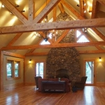 Cathedral Ceiling with wood beams