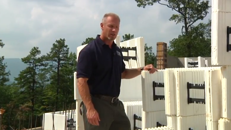 Asheville Builder and Energy Efficiencies, Green Building with ICF's for foundations