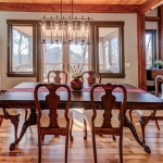 North Asheville Timberpeg dining room