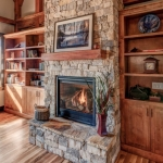 North Asheville Timberpeg living room